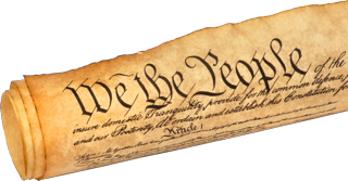 Rolled up Constitution